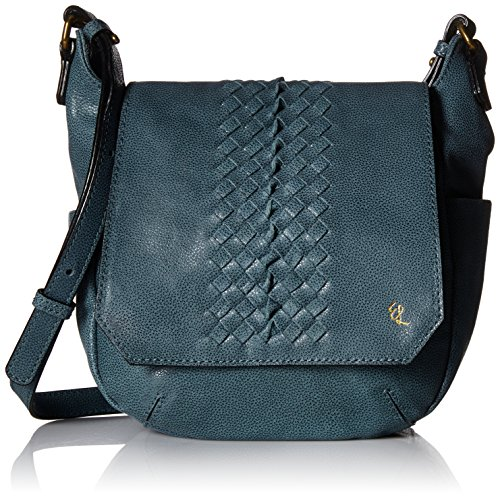 Elliott Lucca Bali 89 Sabine Cross Body, Azul Sumatra, One (Lucca Woven Leather)
