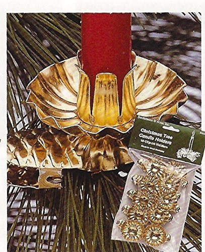Biedermann & Sons Brass Colored Christmas Tree Candle