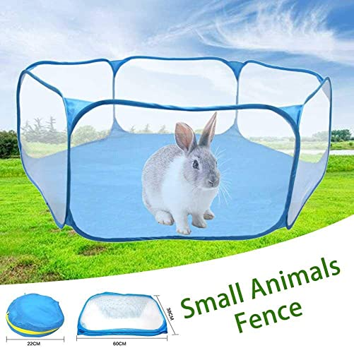 Grehod Portable Guinea Pig Playpen Hamster Playpen Small Animal Play Pen Hamsters Run Playpen Pets Pop up Folding Yard Fence