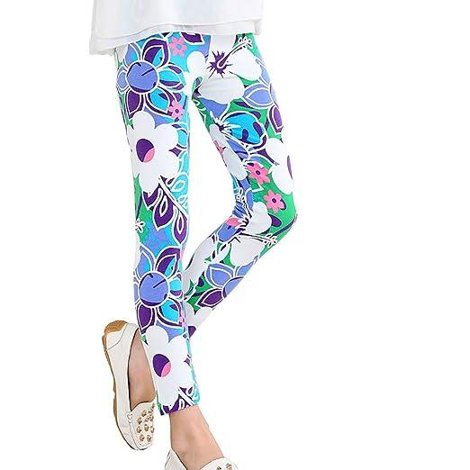 aaa72bd98efe9 Children's Printing Flower Toddler Classic Leggings Girl's Pants (50#(2T),  Epiphyllum
