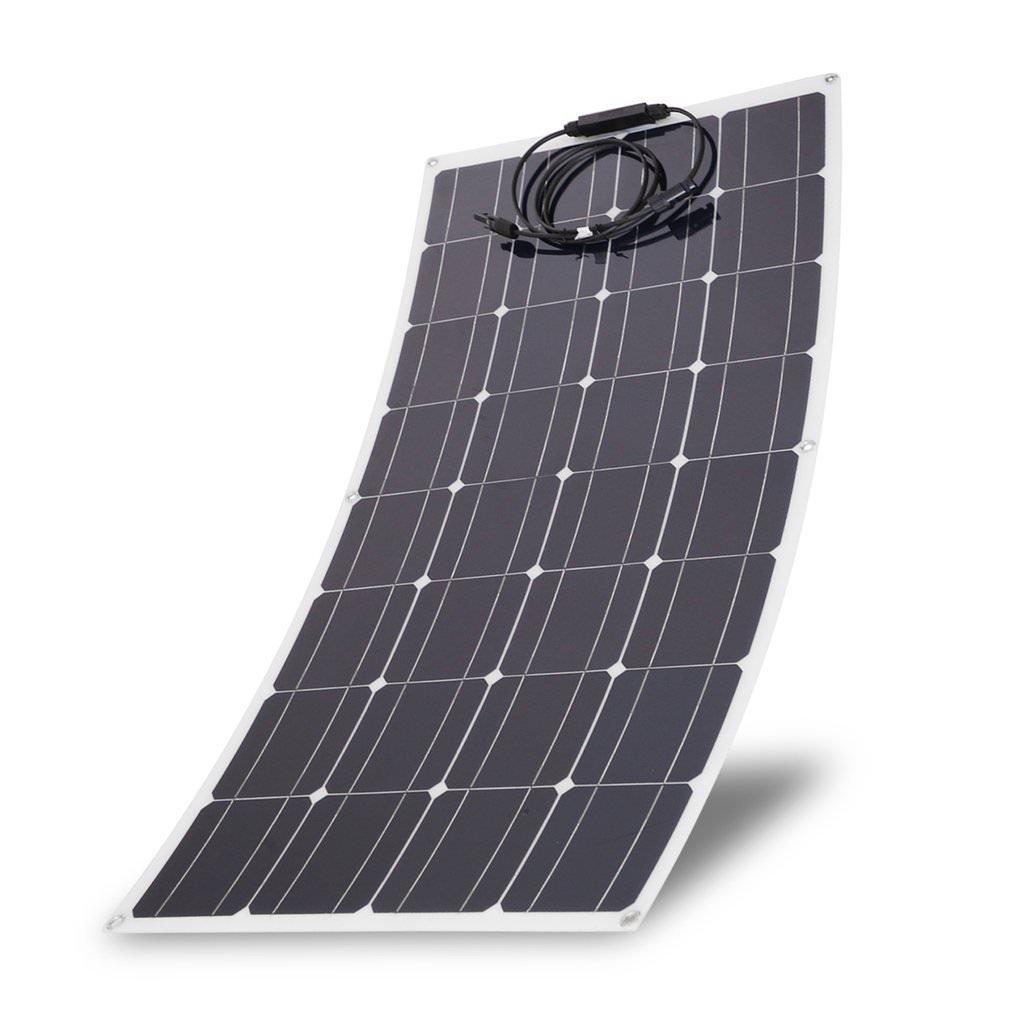 Kath Solar Panel Monocrystalline Flexible Sun Power Module Ultra Thin Solar Power Charging System Outdoor Practical Solar Charging Device (150W) by Kath