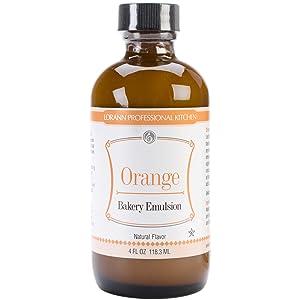 Bakery Emulsions Natural & Artificial Flavor 4oz, Orange - 13455