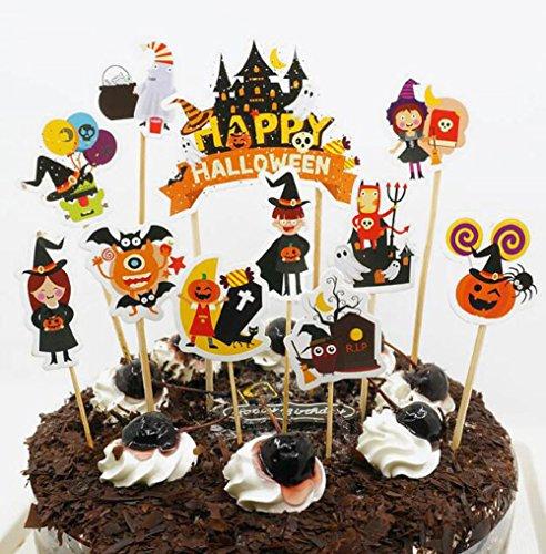 Halloween Cupcake toppers-Halloween Party (Coolest Halloween Cocktails)