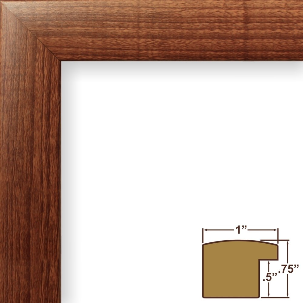 Craig Frames 23247616 18 by 24-Inch Picture Frame, Smooth Wood Grain Finish, 1-Inch Wide, Walnut Brown by Craig Frames (Image #2)