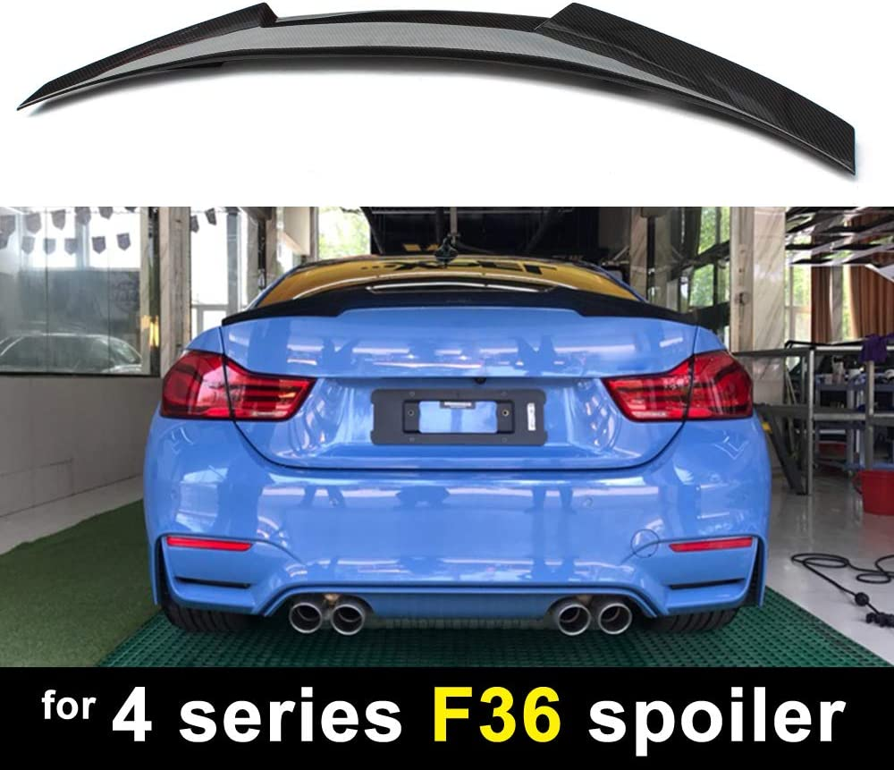 M4 Style Carbon Fiber Rear Spoiler For BMW 4 series F36 4 Door Gran Coupe 2014+