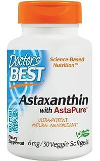 Doctors Best - El mejor Astaxanthin que ofrece el magnesio 6 AstaPure12. - 30Cápsulas blandas
