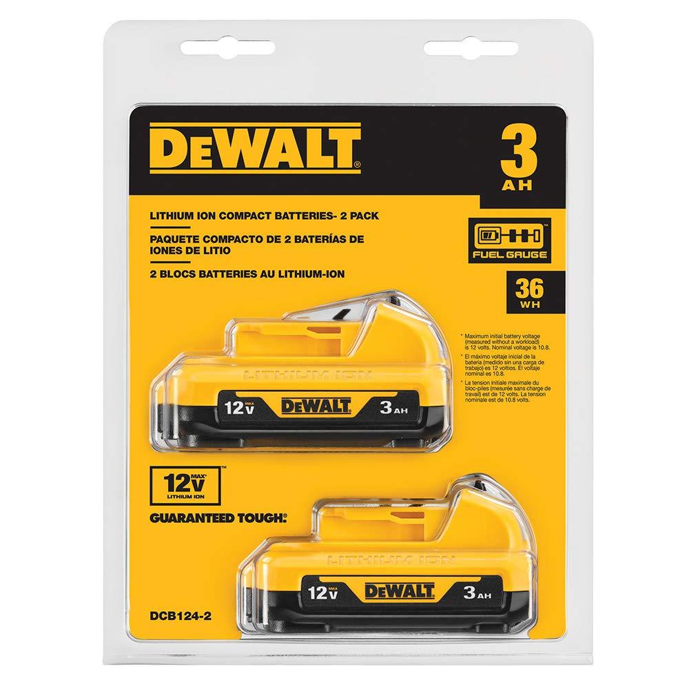 DeWALT DCB124-2 XTREME 12V MAX High Capacity Lithium Battery Packs - 2 Pack