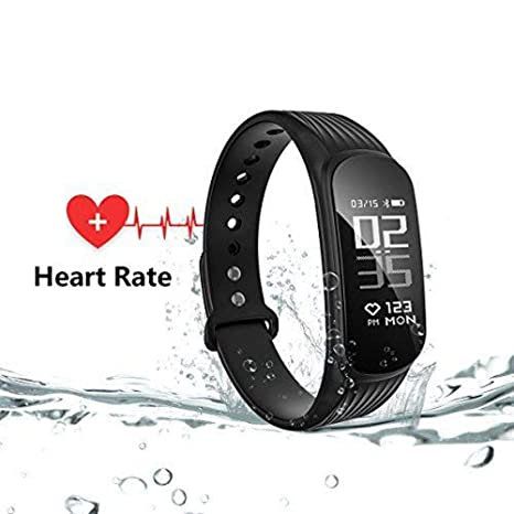 WearPai Fitness Tracker, Waterproof Sport Activity Tracker with Heart Rate Monitor Step Counter, Bluetooth