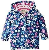 Hatley Little Girls' Girls Summer Garden Raincoat, Blue Summer Garden, 6