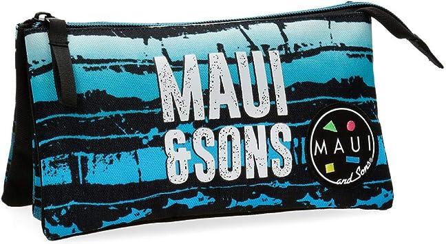 Estuche tres compartimentos Maui Waves: Amazon.es: Equipaje