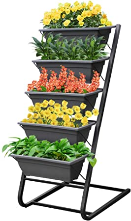 Amazon Com 4ft Vertical Garden Freestanding Elevated Planter With