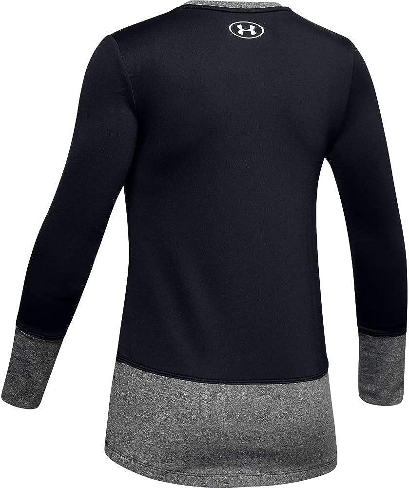 Under Armour Coldgear Crew Long-sleeve Shirt 001 Small Black//White Girls Black
