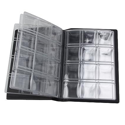 4f3a3046f7 LUOEM Portamonete per 120 Monete Raccoglitore per Monete Album Moneta  Moneta Tasche Nero: Amazon.it: Casa e cucina