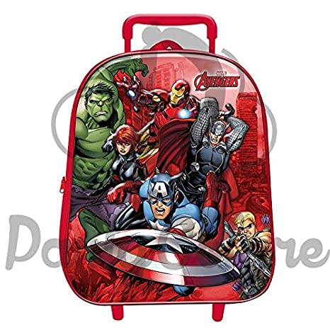 1bbe461ec5 ZAINO TROLLEY AVENGERS MARVEL 3D - ASILO SCUOLA - ZAINETTO: Amazon ...