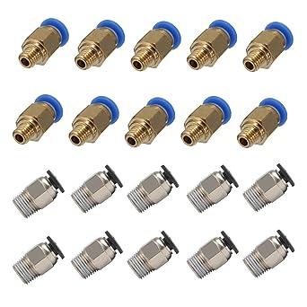 Tenlacum PC4-M10 - Empuje neumático recto para conectar (20 piezas ...
