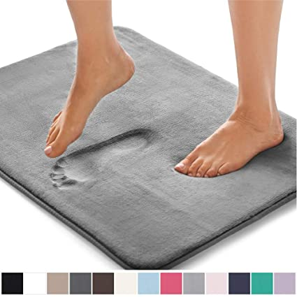 Gorilla Grip Original Thick Memory Foam Bath Rug 30x20 Cushioned Soft Floor Mats Absorbent Kids Bathroom Mat Rugs Rugs Machine Wash Dry Luxury