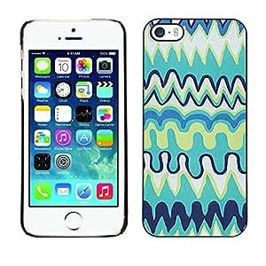 TopCaseStore / la caja del caucho duro de la cubierta de protección de la piel - Childrens Kids Art Blue Drawing - Apple iPhone 5 / 5S