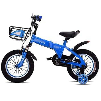 JianMeiHome Bicicleta para niños Bicicleta Plegable para niños 2-10 años Bicicleta Auxiliar con Rueda