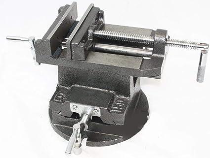 "3/"" Milling Machine Lockdown Vise Swivel Base Clamping Vise Acme screws 24KN"