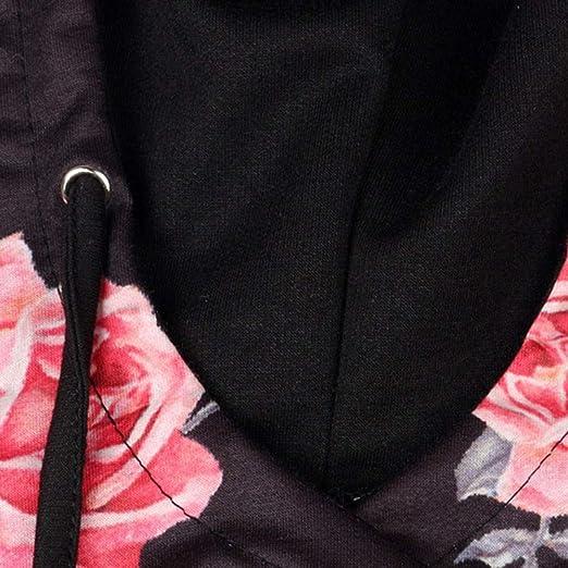Luckycat Las Mujeres Ocasionales destacan la Blusa Superior Impresa de Manga Larga del Lazo del Bolsillo del Jersey: Amazon.es: Ropa y accesorios