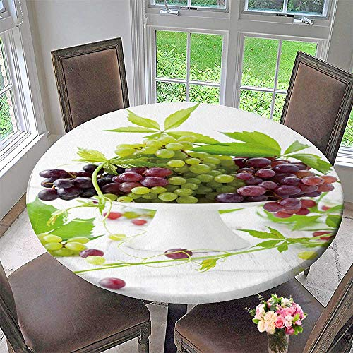 Grape Cake Stand (Chateau Easy-Care Cloth Tablecloth Type Grapes with Leaves on a Cake Stand for Home, Party, Wedding 63