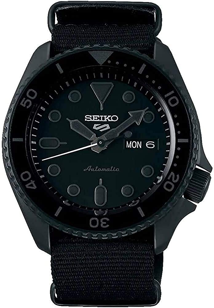 Seiko Men's Black Nylon NATO Strap Automatic Watch