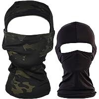 QHIU Táctico Camuflaje Ninja Hood Capucha Completa Cara
