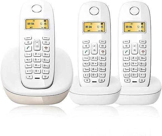 Teléfono LCSHAN Retro Inalámbrico de Línea Fija Personalidad Creativa y Conveniente Inteligente (Color : White, Size : A Style): Amazon.es: Hogar