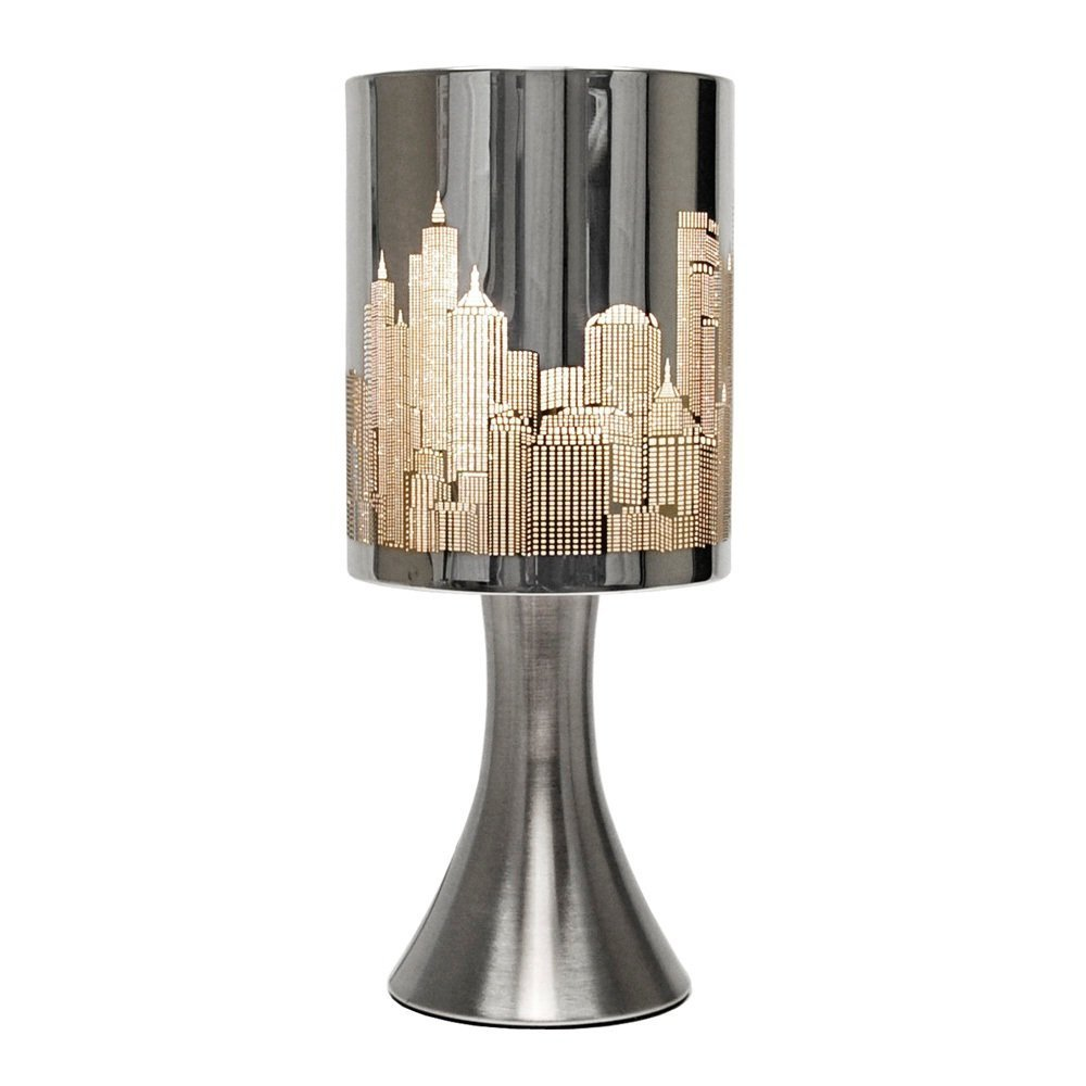 Chrome touch table lamp with new york skyline shade 5016529154488 ebay chrome touch table lamp with new york skyline shade aloadofball Images