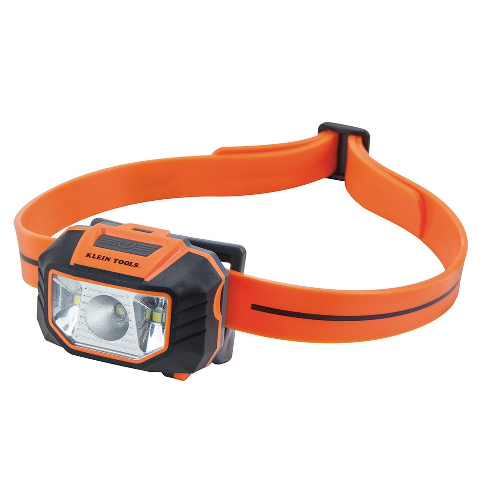 Headlamp, LED Flood Light and Spotlight for Hard Hat with 45-Degree Tilt and Anti-Slip Strap Klein Tools 56220