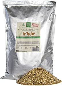 Small Pet Select Chicken Layer Feed. Non-GMO, Corn Free, Soy Free. Locally Sourced In The Pacific Northwest. Made in Small Batches Ensuring Product, 25 lb,Green