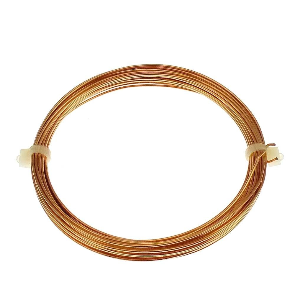 0.8mm (20 Gauge) Craft/Jewellery Wire - Non Tarnish Warm Gold Colour - 6 Metres The Bead Shop