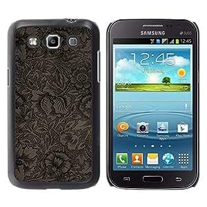 Be Good Phone Accessory // Dura Cáscara cubierta Protectora Caso Carcasa Funda de Protección para Samsung Galaxy Win I8550 I8552 Grand Quattro // Wallpaper Pattern Floral Coffee Flow