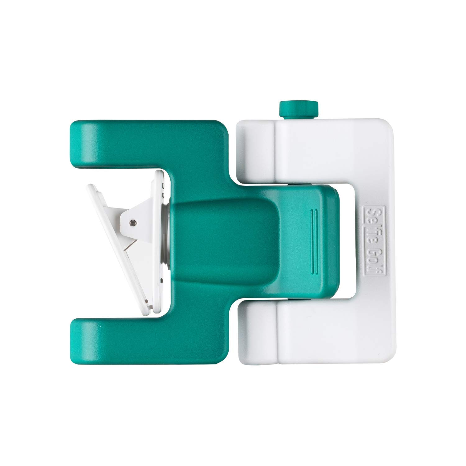 SelfieGolf Record Golf Swing - Cell Phone Clip Holder and Training Aid - Golf Accessories | Winner of The PGA Best Product | Works with Any Smart Phone, Quick Set Up (Green/White) by Selfie Golf (Image #2)