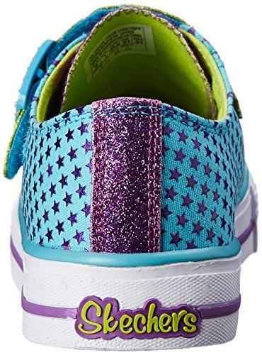 Skechers Kids Twinkle Toes-Mysticals Light-Up Sneaker (Little Kid) Turquoise/Purple