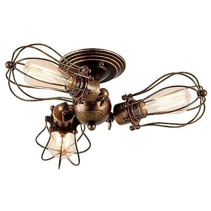 Lámpara de techo Lámparas de metal ajustables vintage ...