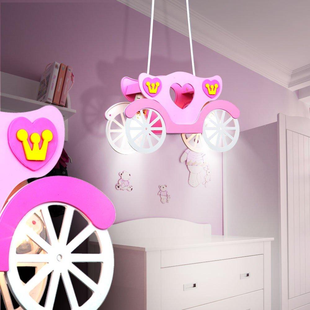 LED Decken Leuchte Mädchen Pendel Lampe Kutsche im: Amazon.de ...