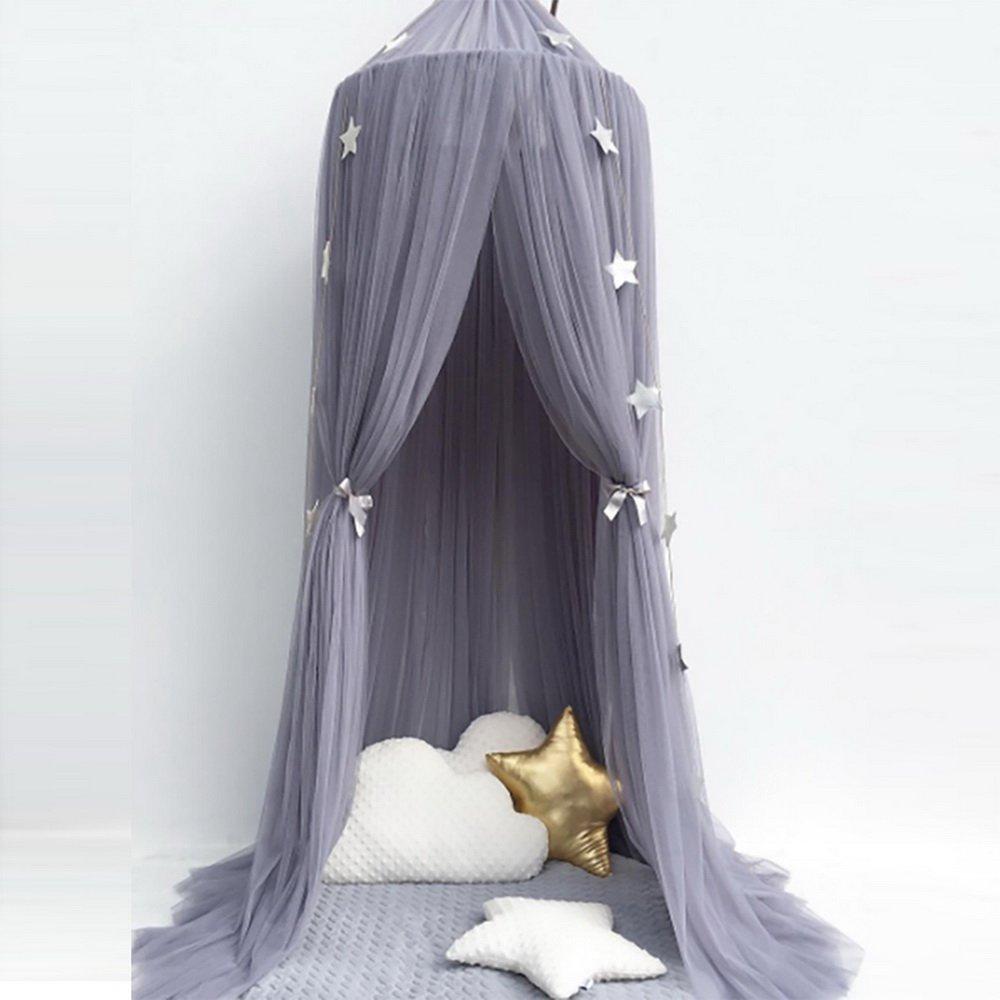 Sfit Moustiquaire Ciel de Lit Baldaquin D/ôme Princesse R/épulsifs /à Moustiques pour Enfant B/éb/é Rose