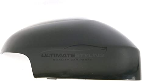 Right Hand Side Ultimate Styling Aftermarket Replacement Wing Mirror Cover Cap Colour Of Cover Paintable RH Black For Drivers Side