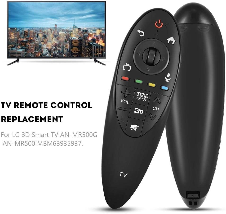 Black ABS Material New Remote Control for LG 3D Smart TV AN-MR500G Replacement GLOGLOW TV Control