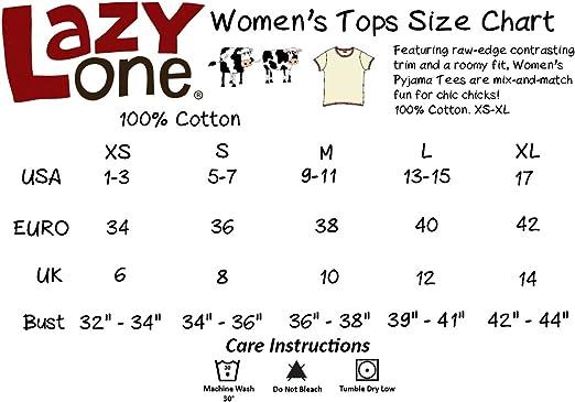 "XS Lazy One /""Tweet Dreams/"" Women/'s PJ Tee"