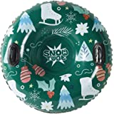[2019 Newest] Snow Tube - Super Big 47 Inch Inflatable Snow Sled for Kids and Adults - Double Layer Bottom…