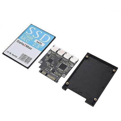 Adaptador SD a SATA de 4 Puertos, 4X Tarjeta de Memoria Micro SD ...