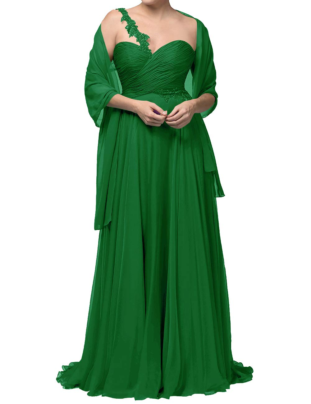 Prom Dresses for Women Plus Size Long Mother of The Groom Summer Wedding  Dress Green US12