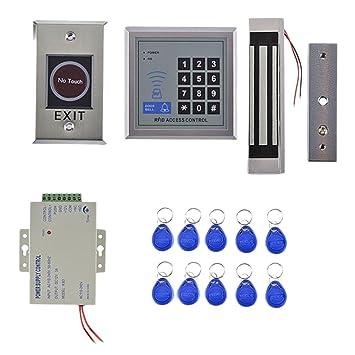 MagiDeal 1 Sistema de Control Acceso de Entrada de Puerta Cerraduras Eléctricas de Seguridad