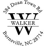 Custom Address Stamp, Walker Self Inking Address Stamp, Monogram Initial Address Stamp | Multiple Ink Color Options | Thousan