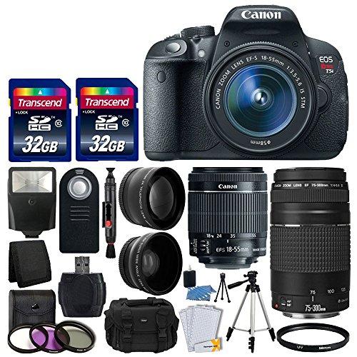 Canon EOS Rebel T5i DSLR Camera + EF-S 18-55mm IS STM Lens +