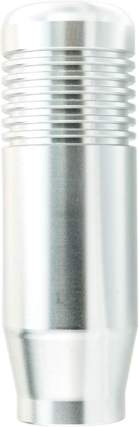 Gray Lunsom Metal Car Shifting Head Aluminum Alloy Short Stick Shift Handle Shifter Lever Knob Fit Universal Automatic Manual Transmission Vehicle