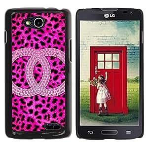 iKiki Tech / Estuche rígido - Leopard Pattern Brand Fashion - LG OPTIMUS L90 / D415