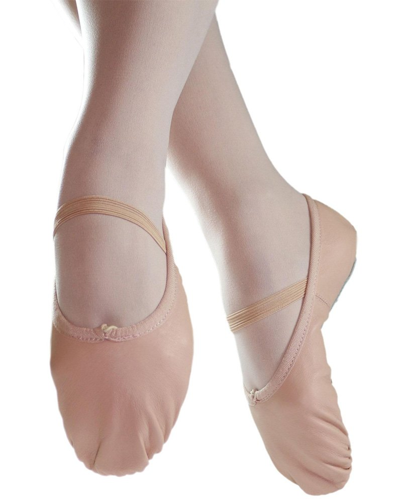 Danzcue Adult Full Sole Leather Pink Ballet Slipper 8.5 M US